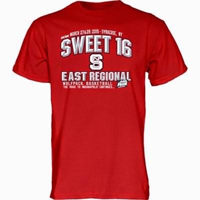 north carolina state wolfpack sweet 16 t-shirts, nc state sweet 16 tee shirts