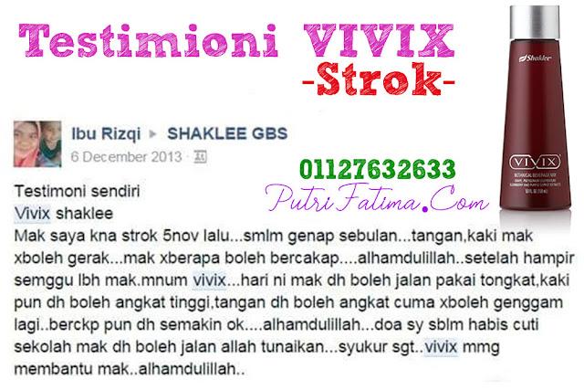 Testimoni Vivix Shaklee Pesakit Strok