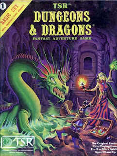 Cover of Dungeons & Dragons Basic Set (art by Erol Otus), a role-playing game published by TSR.