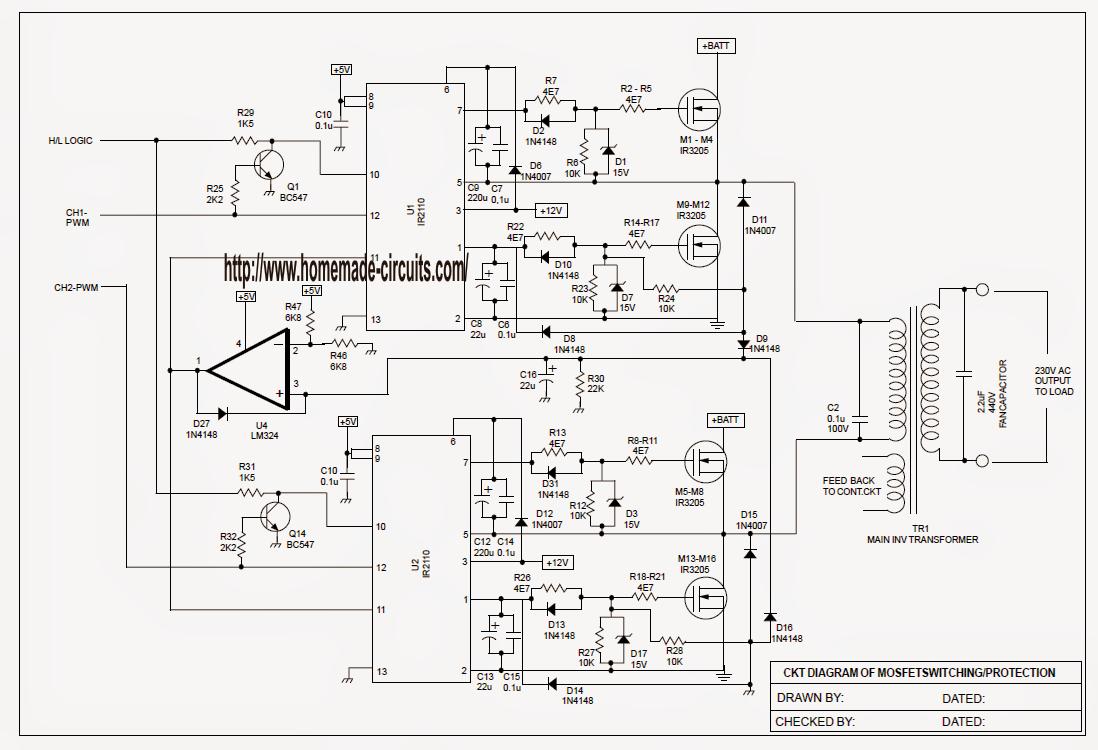 Sinewave UPS Circuit using PIC16F72 Part-2