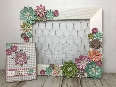 Megumi\'s Stampin Retreat: CPC Succulent Garden Frame & Card Gift Set