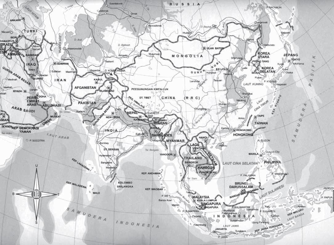 Letak Luas Batas Kondisi Fisik Sosial Karakteristik Peta Kawasan Benua