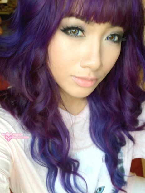 april fool romance purple hair