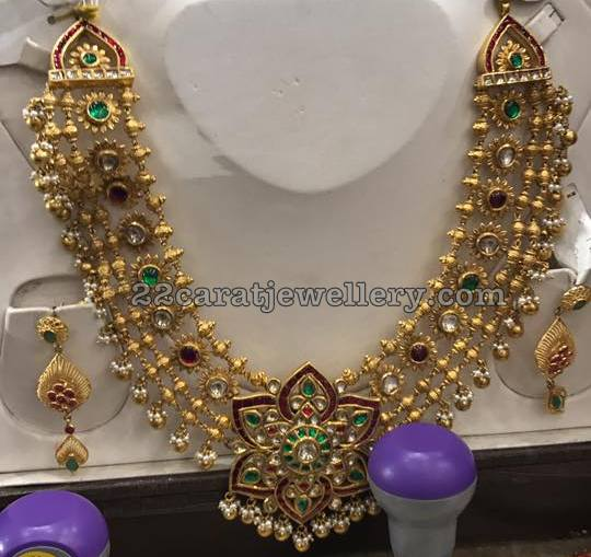128gms Kundan Three Layer Necklace