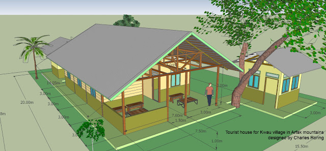 Wooden house for ecotourism
