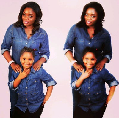 #BBNaija; Check out photos Bisola and daughter rocking matching outfits