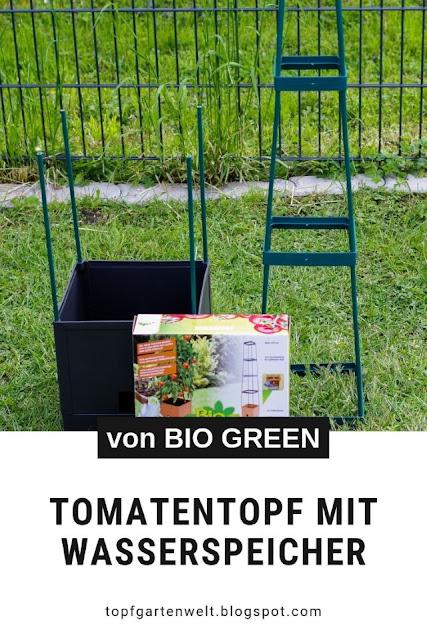 Tomatentöpfe mit Wasserspeicher und Rankhilfe | Tomaten im Topf anbauen - #tomaten #tomatentopf #topfgarten #topfgartenwelt
