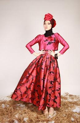 model hijab Igo Cantik buat pesta rok rempel dan manis uska sekali panas dingin dan indah