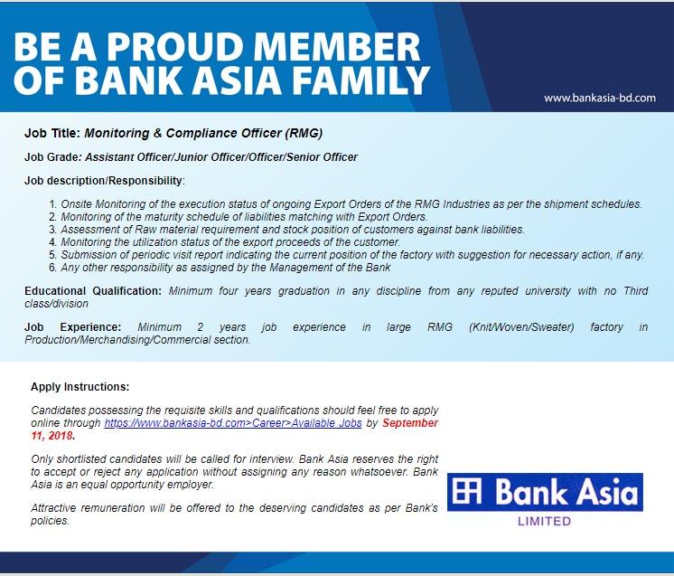 Bank Asia Career