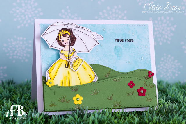 Rain or Shine Slider Card by ilovedoingallthingscrafty