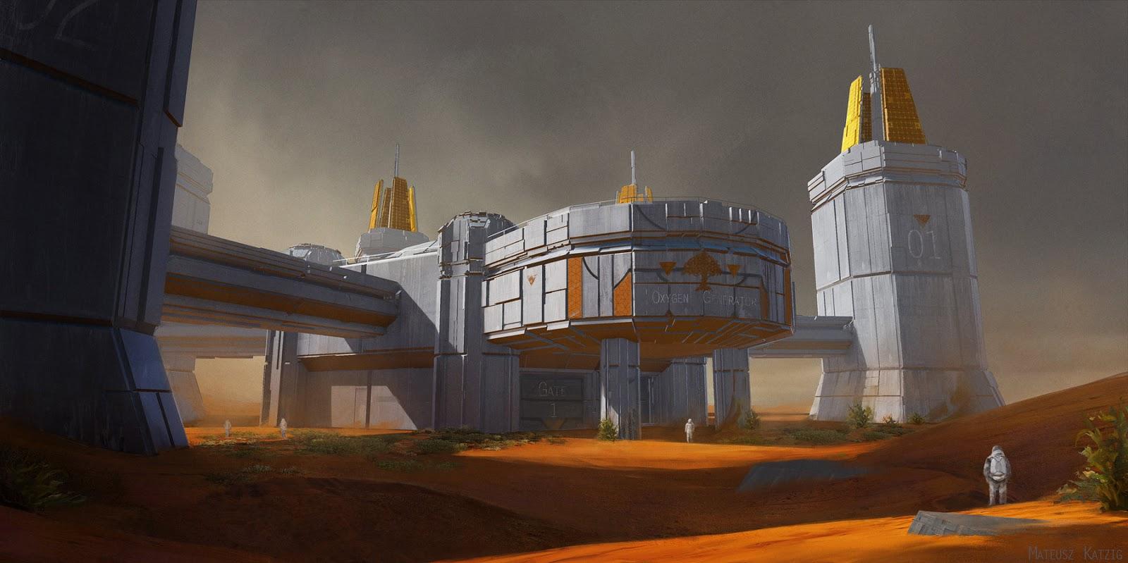 Mars terraforming station by Mateusz Katzig