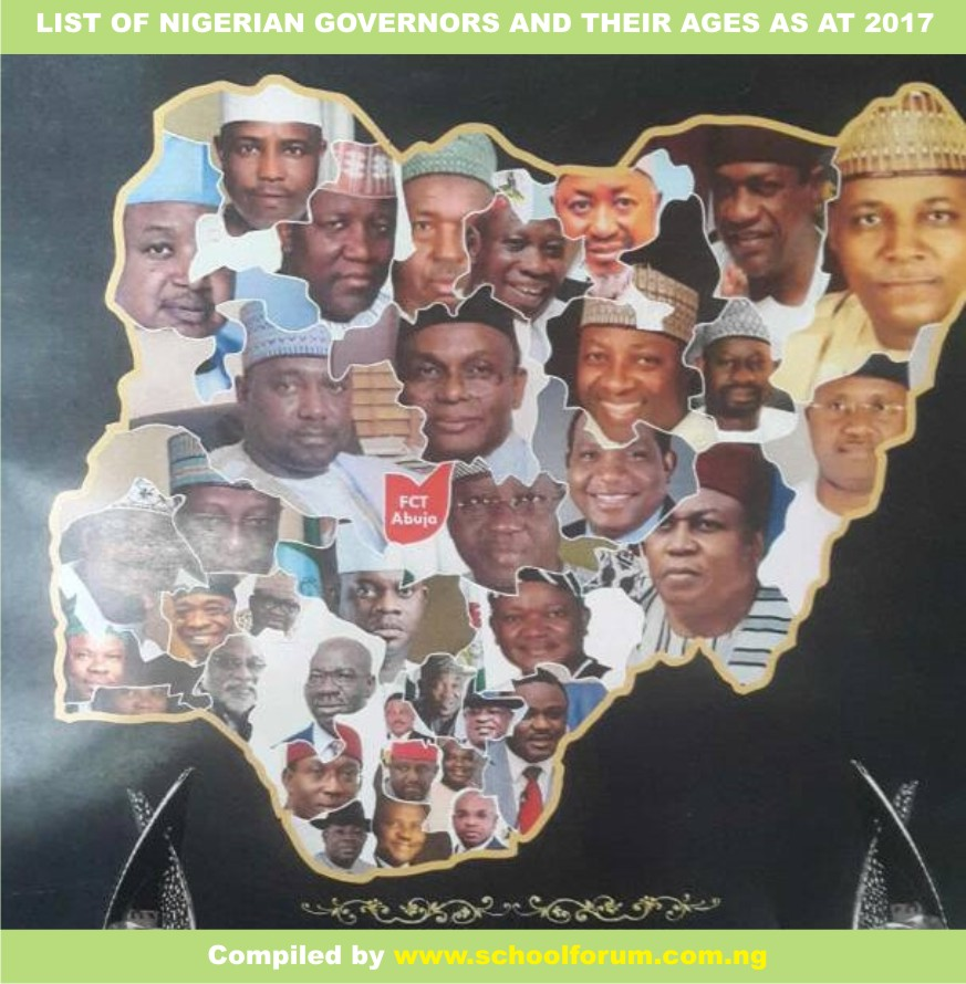 NIGERIAN GOVERNORS AND THEIR AGES