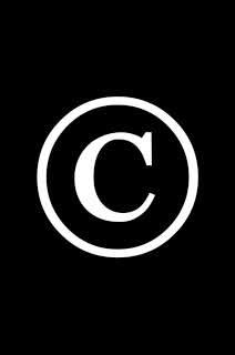 Copyright logo on a black background