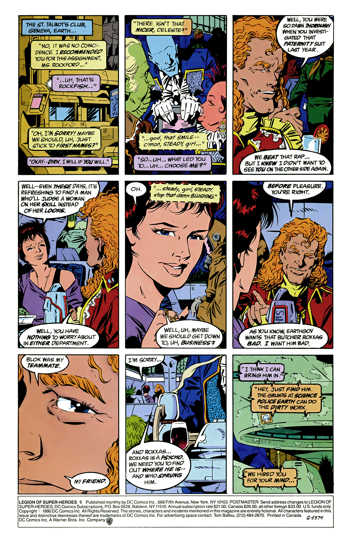 Legion of Super-Heroes (1989) 6 Page 1
