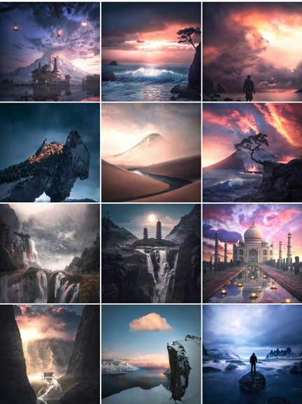 top visual artist on insatgram