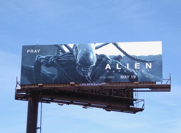 Alien Covenant movie Pray billboard
