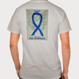 Guardian Angel ALS Team Walk T-Shirt Personalized Apparel Art