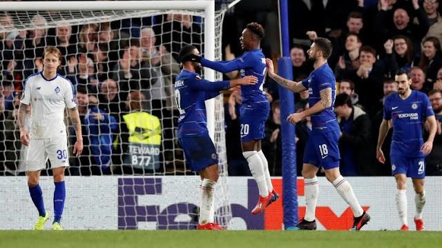Hasil Liga Europa: Chelsea Bekuk Dynamo Kiev 3-0