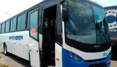 O ônibus foi levado para a Delegacia de Polícia Civil. - Foto: Divulgação/ Polícia Rodoviária Federal