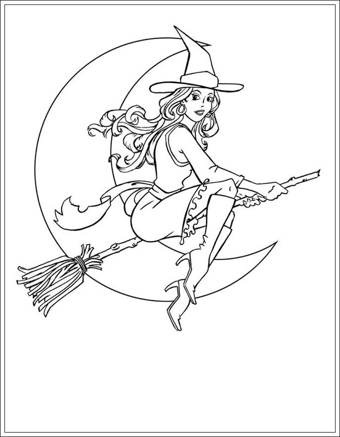 ausmalbilder zum ausdrucken ausmalbilder von hexe zum drucken