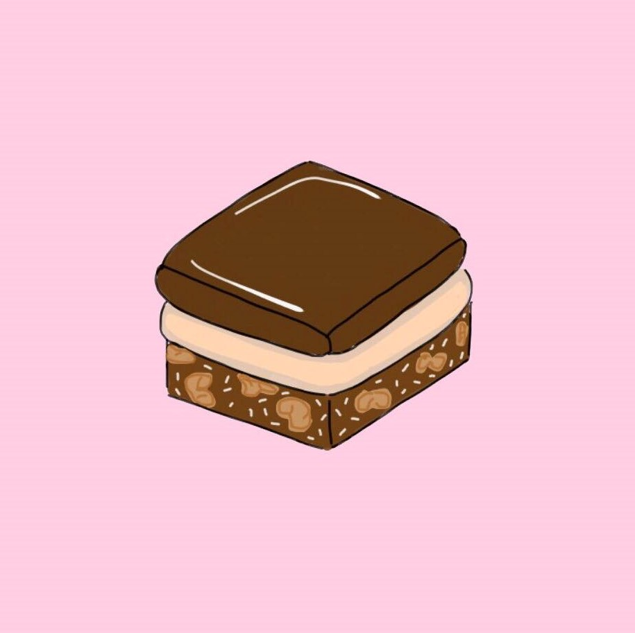 Nanaimo bar illustration