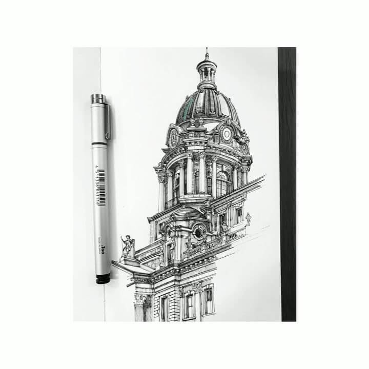 10-Police-Building-MISTER-VI-Architectural-Drawings-From-Around-the-World-www-designstack-co