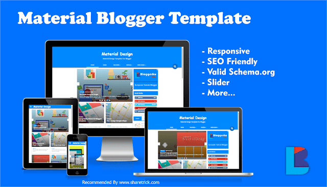 Material Responsive Blogger Template is the latest, clean blogger template that built with Google's Material Design Concept