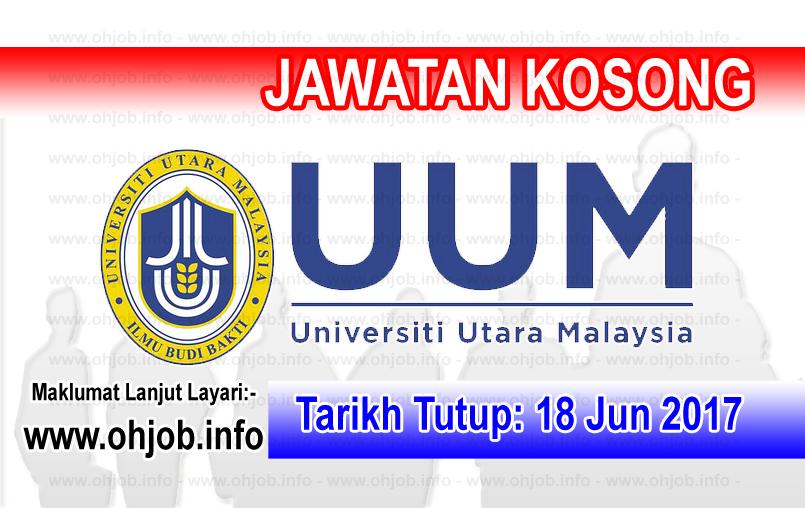 Jawatan Kerja Kosong Universiti Utara Malaysia - UUM logo www.ohjob.info jun 2017