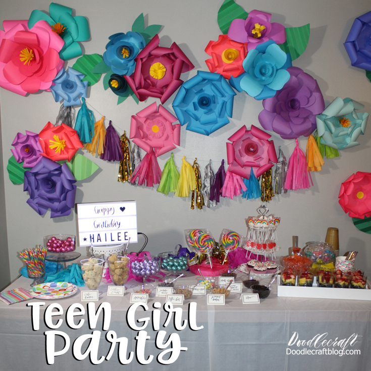 Doodlecraft: Teenage Girl Birthday Party With Edible