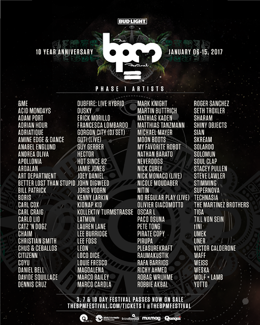 line up bpm festival 2017 playa del carmen