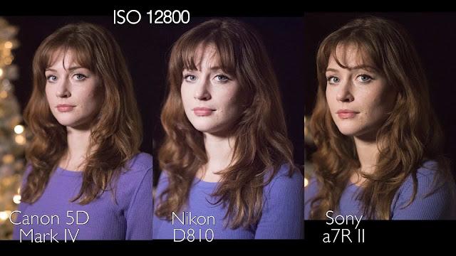 Nikon D810, Canon 5D Mark IV, Sony A7R II iso 12800