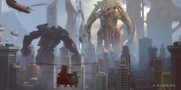 Aaron McBride artstation ilustrações artes conceituais fantasia ficção filmes blockbusters