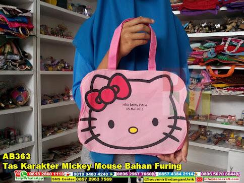 jual Tas Karakter Mickey Mouse Bahan Furing