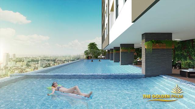 Bể bơi dự án The Golden Palm