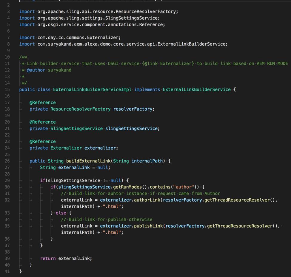 Generating URL based on AEM RUN mode using AEM Externalizer