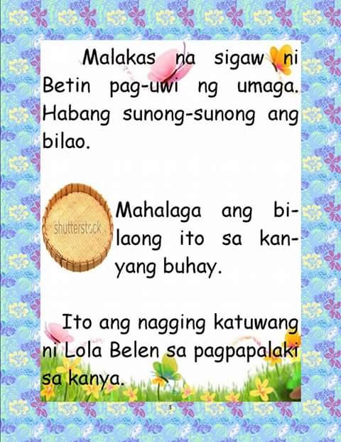 Teacher Fun Files: Maikling Kwento: Bilao ni Betina