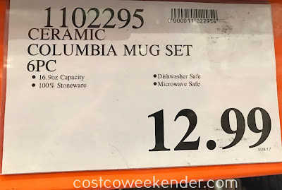 Deal for the Overandback Colombia Ceramic 6-piece Mug Set at Costco
