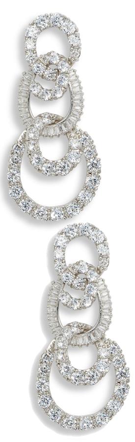 Nina 3-Tier Swirl Drop Earrings