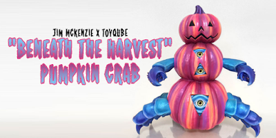 """Beneath The Harvest"" Pumpkin Crab Vinyl Figure by Jim McKenzie x ToyQube"