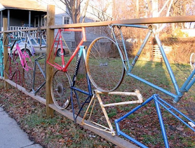 Unique Home Used Bicycle Fence