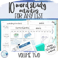 image of resource link word study activities for any list volume one
