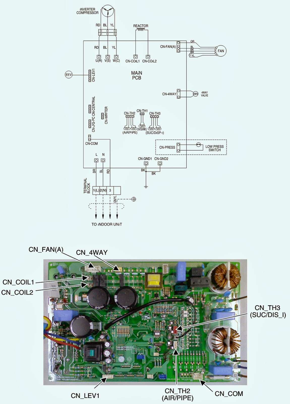 LG Wiring diagram [Models: AS W096E1G0 – AS W126E1G0 – AS
