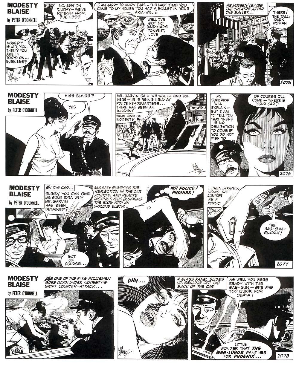 Modesty blaise comic strip 1