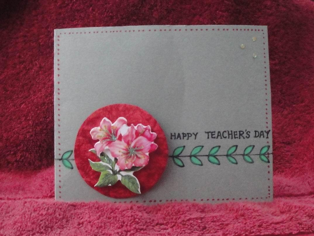 my handmade cards teacher's day cards