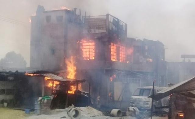 Fuego, llamas, humo, seguridad, incendio