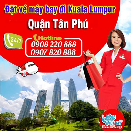 Đặt Vé máy bay máy bay đi Kuala Lumpur quận Tân Phú