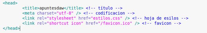 Estructura HTML. Elemento HEAD
