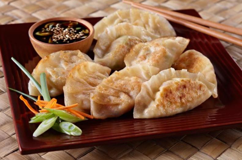 Китайские пельмени – димсамы – с креветками