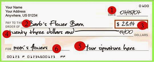 how to write a personal check over to someone else