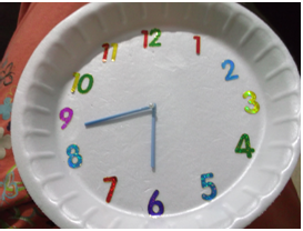 rokkam tata how to make a model clock with paper plate. Black Bedroom Furniture Sets. Home Design Ideas